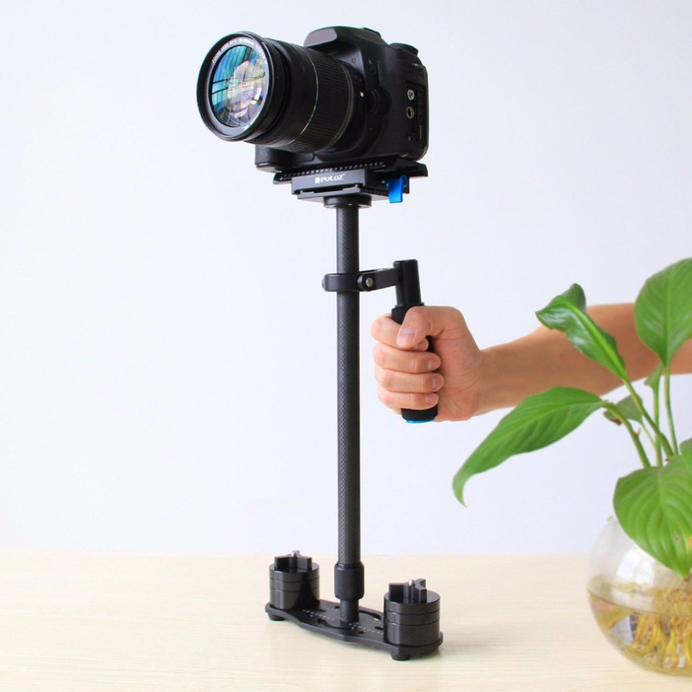 PULUZ  Carbon Fiber Handheld SLR Camera Video Camera Stabilizer Shock Absorbers With Small Stanisan Shock Absorbers ashanks mini carbon fiber handheld