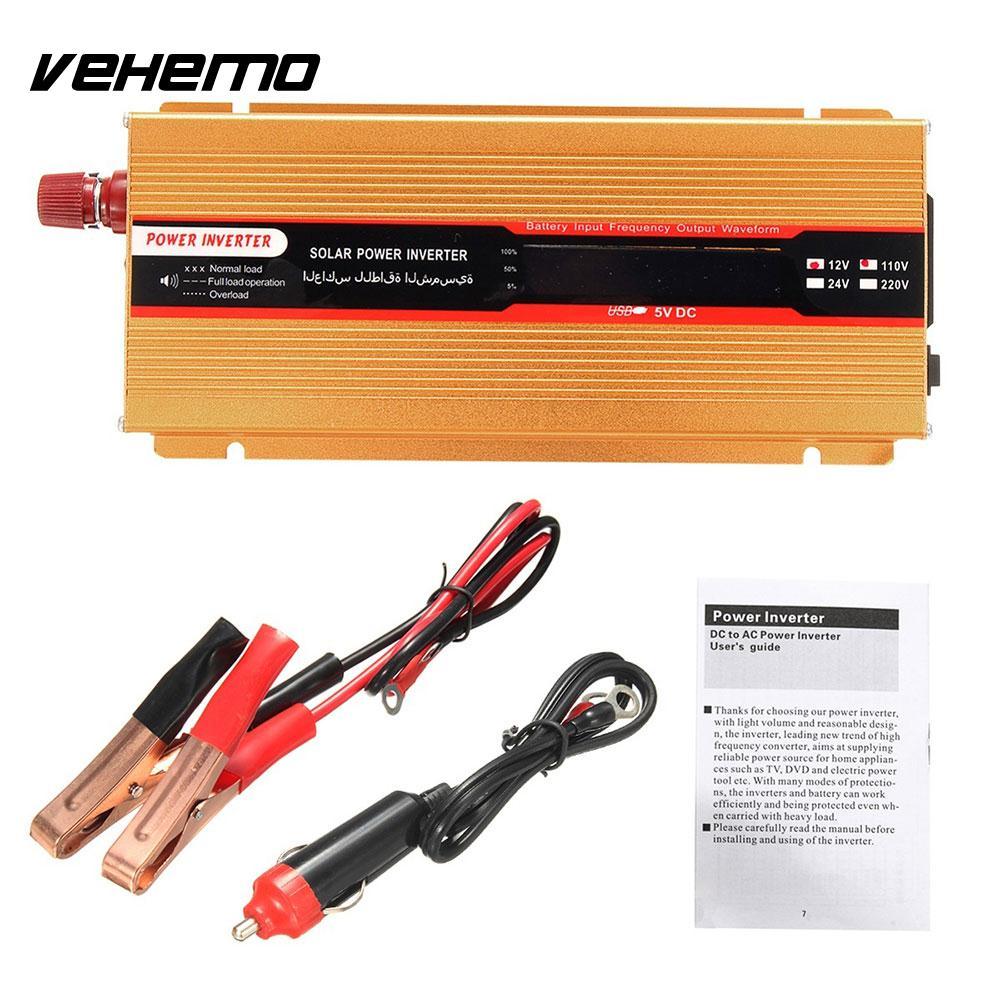 Inverseur de voiture onduleur d'énergie solaire haute Performance Auto onduleur adaptateur transformateur DC24V à AC220V onde sinusoïdale modifiée