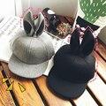 2-4 anos de idade criança orelha de coelho chapéu de lã cap, hop cap, viagem chapéu de Basebol Do Bebê Outono e Inverno Manter quentes Meninos e meninas