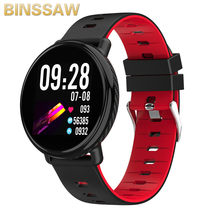 BINSSAW K1 Smart horloge IP68 waterdichte IPS Kleur Screen hartslagmeter Fitness tracker Sport smartwatch PK CF18 CF58 + DOOS(China)