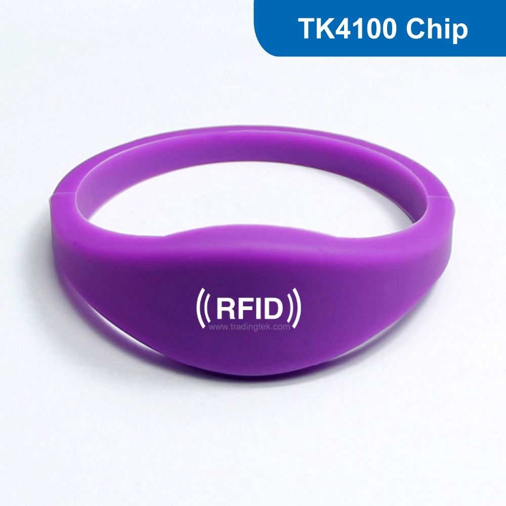 WB03 Silicone RFID Wristband RFID Bracelet Proximity Smart EM Card Frequency 125KHz for Access Control With TK4100 Chip