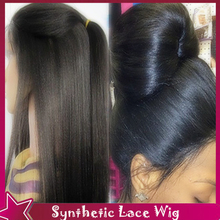 150% High Density Light Yaki Straight Synthetic Lace Front Wig With Baby Hair Synthetic Natural Wigs Glueless For Black Women