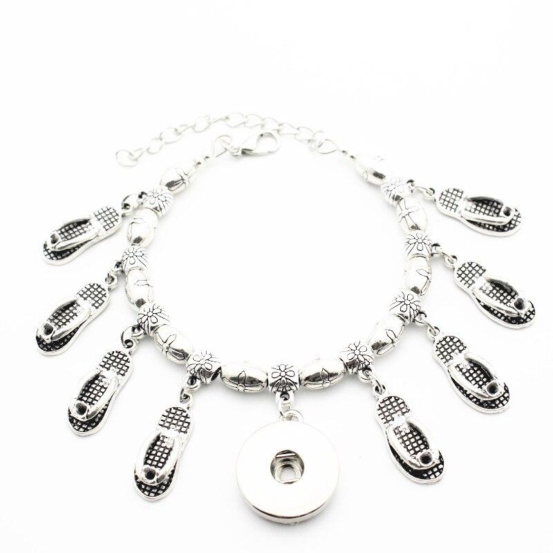 Dangling Cross Bracelet: New Style 1pcs Metal Cross Bead Snap Bracelet Jewelry