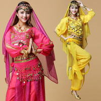 6 Colors woman belly dance clothes Stage Performance Oriental Belly Dance Clothes india bollywood style costumes 3 4 5 7pcs sets