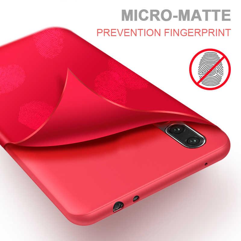 Matte Caixa Do Telefone Para Huawei Honra 7C 8X10 9 Lite Jogar Nova4 Companheiro 20 10 P20 P30 Pro P Smart Plus Casos Macio TPU Doces Tampa Traseira
