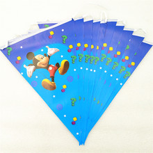 2.5m/set mickey mouse party supplies banner flag cartoon theme for kids happy birthday decoration baby shower