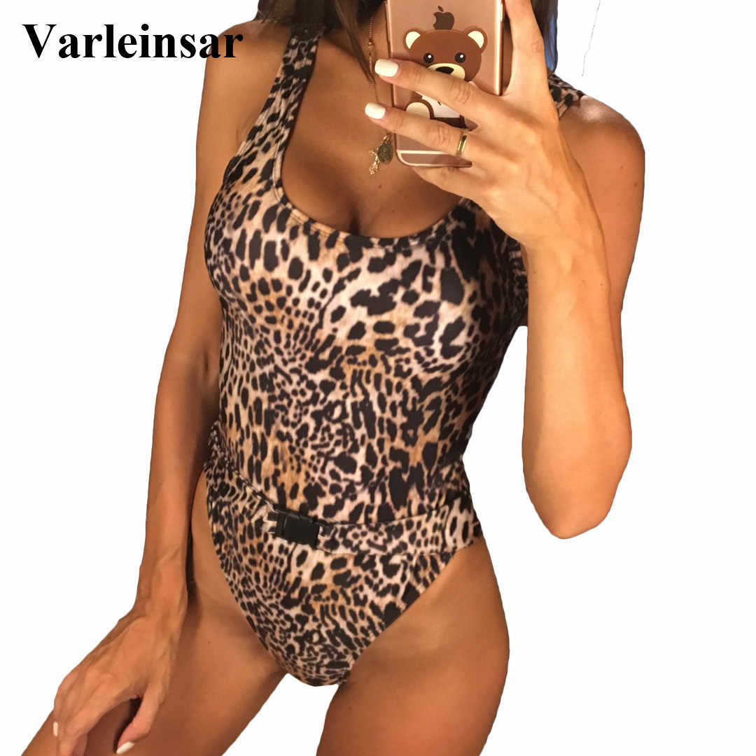 8517e7860c Detail Feedback Questions about New Bather 2019 Sexy Leopard one ...