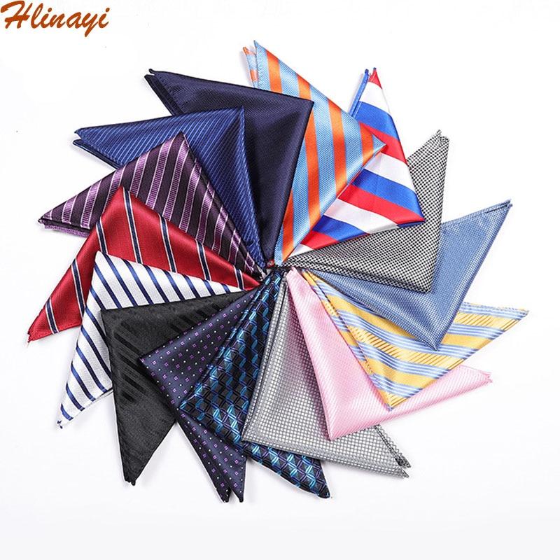 Hlinayi Men's Pocket Towel Wedding Business Men's Suit Shirt Pocket Towel Polyester Square Scarf Breast Towel Handkerchief