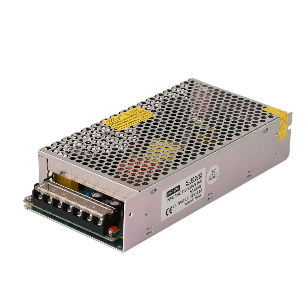 2017 DC12V 12.5A Small Volume Single Output Switching Power Supply Driver For LED Strip Light Display 3D Printer