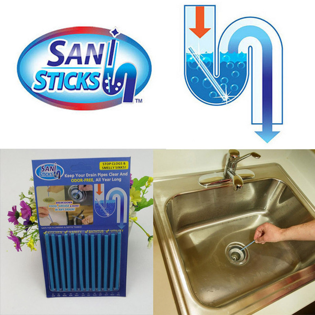Sani Sticks Sewage Decontamination Deodorant Drain (12pcs)