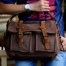 Men Bags Fashion Shoulder Bag Vintage Canvas Messenger Bags Man Casual Cross Body Handbags