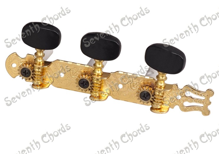 A Set Gold Classical Guitar String Tuners Tuning Pegs Keys Machine ...
