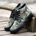 Cómodo hombres botas de lona zapatos de los hombres del ejército militar camuflaje al aire libre botas de combate zapatos moda hombre botines wark