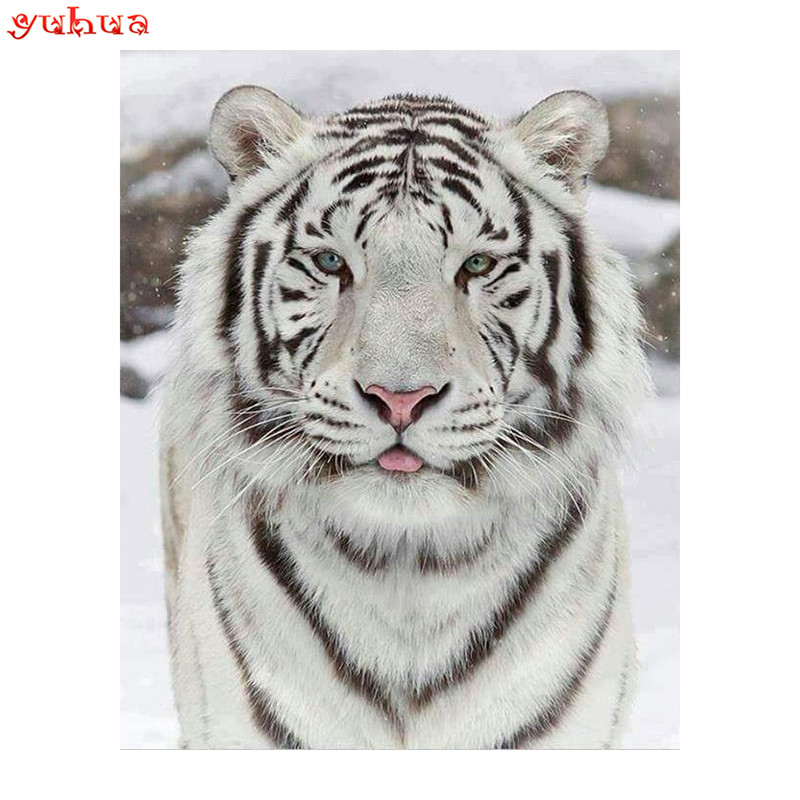 Diamond 5D DIY Diamond Painting White Tiger Embroidery Cross Stitch Rhinestone Mosaic Painting Home Decor GiftDiamond 5D DIY Diamond Painting White Tiger Embroidery Cross Stitch Rhinestone Mosaic Painting Home Decor Gift