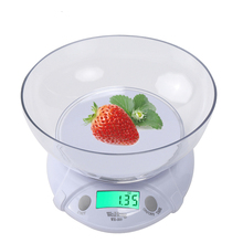 Top Selling 7 KG-1G Digital Electronic Scale Kitchen Home House Food Balance Weight With Bowl LED Backlight A++ Quality