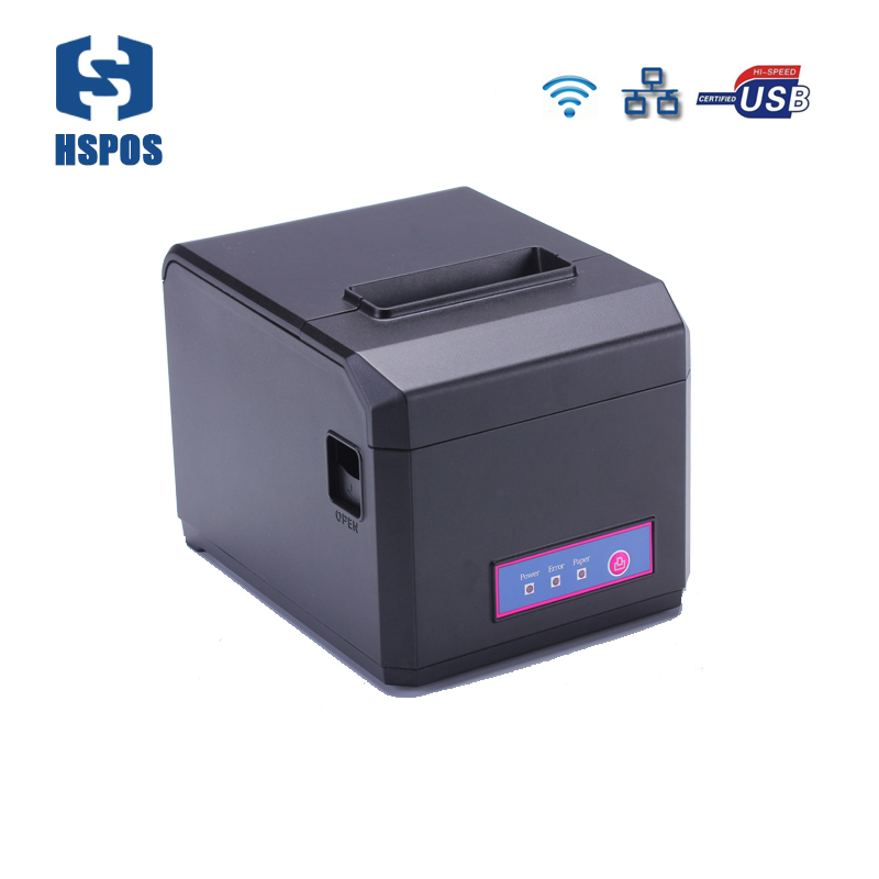 High Quality Wifi LAN POS 80mm Thermal receipt printer with auto cutter and 300mm/s printing support 58 80mm paper HS-E81ULW прямой соеденитель