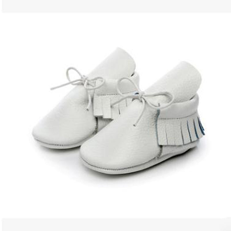 1 Pair 2017 New Cute Baby Shoes First Walkers Genuine Leather Fringe Soft Birthday Gift Fashion Non-Slip Comfortable All Seasons soft soled walkers baby soft bottom anti slip elastic band cotton cute sole toddler shoes quality baby shoes 70a1077