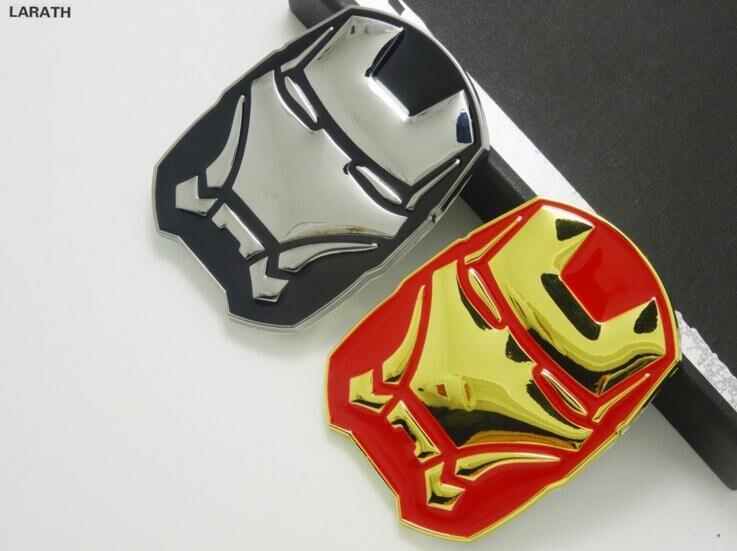 Superman Car Accessories: Drop Shipping Full Metal Iron Man Car Tail Hood Styling