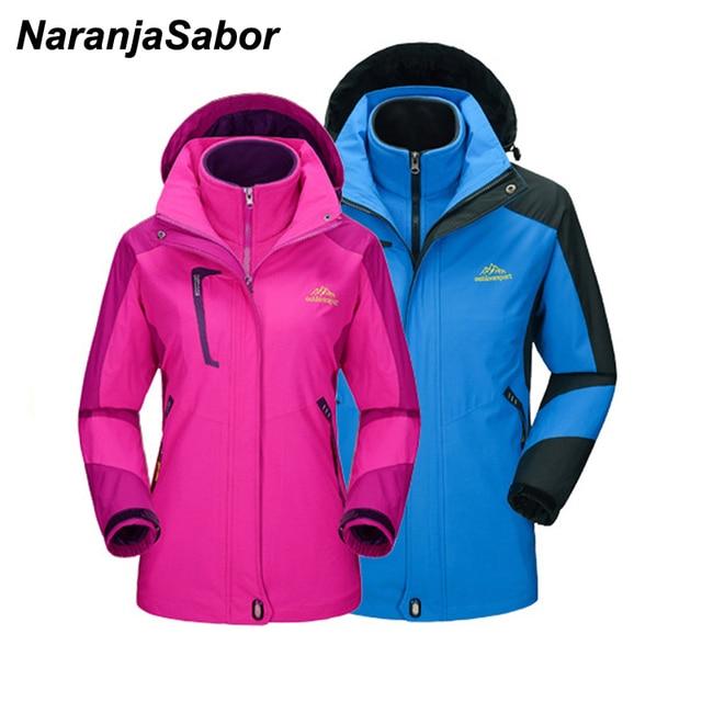 e2967b32b7982 US $45.13 21% OFF|NaranjaSabor Men Women Winter Thick Softshell Jackets  Male Outdoors Inside Fleece Jacket Windproof Waterproof Thermal Coats  5XL-in ...