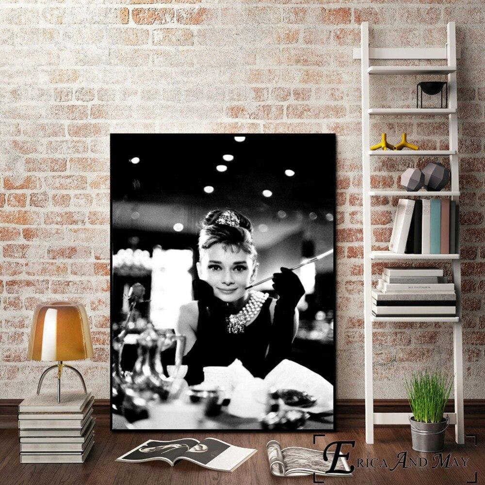 Aliexpress.com : Buy Audrey Hepburn Vintage Canvas Art