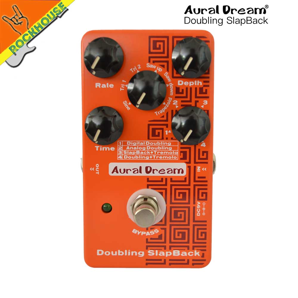 New Aural Dream Digital Doubling Guitar pedal Analog Doubling Pedal with Tremolo SlapBack 6 models True Bypass Free Shipping new digital 6 30
