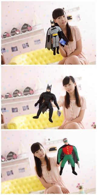 Envío de la venta caliente Detective Comics batman robin Grande Superman Felpa Juguetes de la Muñeca 40 cm Regalo de Los Cabritos Al Por Mayor