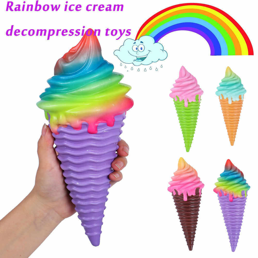 1PCS Squeeze Rainbow Ice Cream Scented Slow Rising Decompression Toys Antistress Squishys Kawaii Kid Toy Gift 30