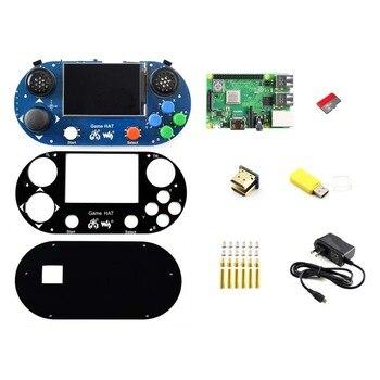 Raspberry Pi 3 Model B+ Development Kit, Game HAT, Micro SD Card, Power Adapter, etc.