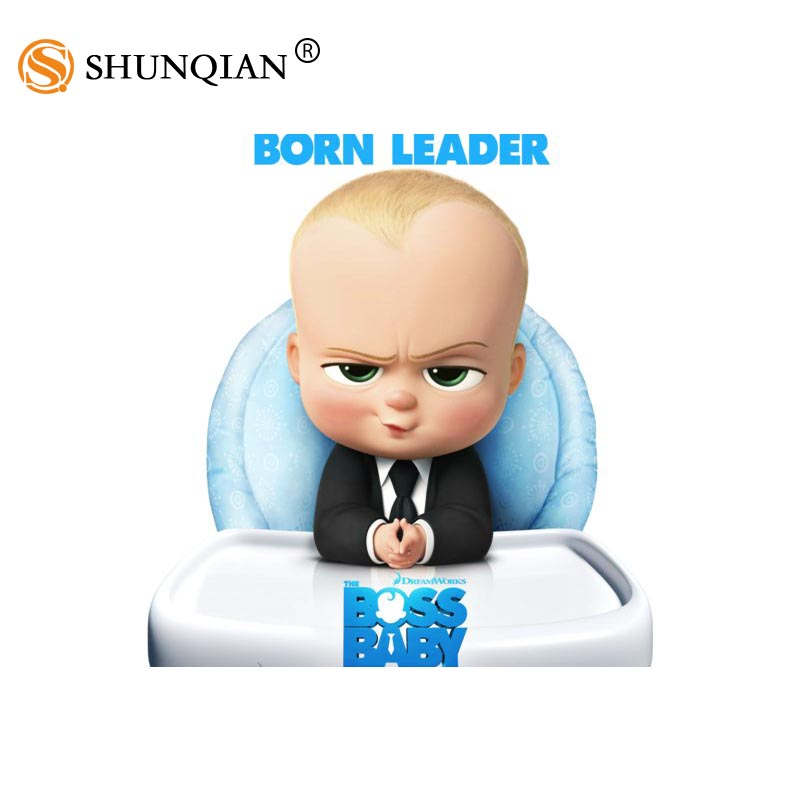 new arrival boss baby poster cartoon silk poster custom posters for kids more size 27x40cm 30x45cm 40x60cm 50x75cm 60x90cm