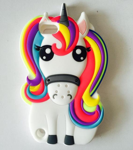 AIPUWEI 3D Cartoon Unicorn Soft Silicone case For Apple iPod touch 5 6 touch 5 touch 6 CASE Rainbow Horse Rubber Cover coque bag