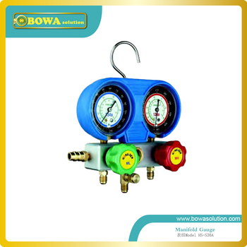 Only R134a manifold Gauge set with  aluminium alloy valve body and imported hose for  car AC repair