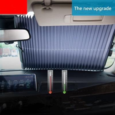 Pare-soleil pare-soleil pour voiture | Pare-soleil rétractable, pour voiture SUV camion, Protection contre les UV, 65CM/70CM/80CM