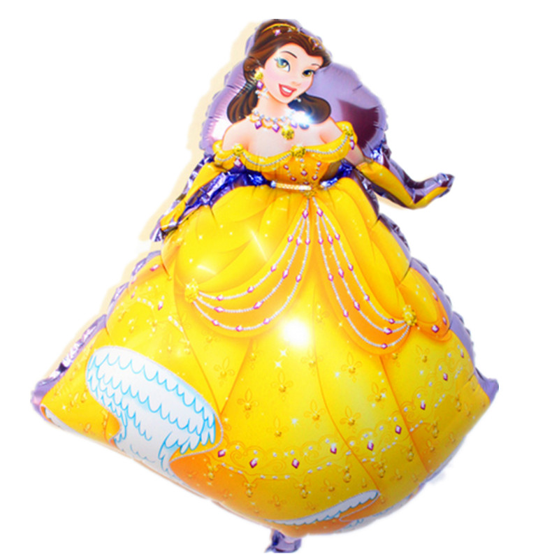 XXPWJ Free Shipping children's princess aluminum balloons birthday party balloon