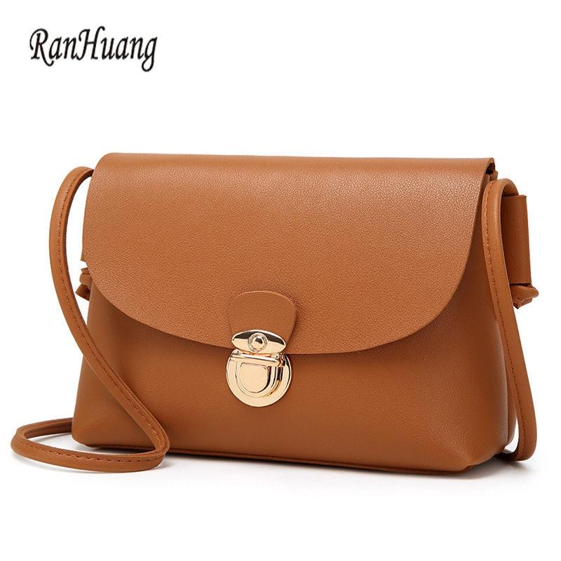 RanHuang mujeres bolsos pequeños cerrojo de moda bolsos de las - Bolsos