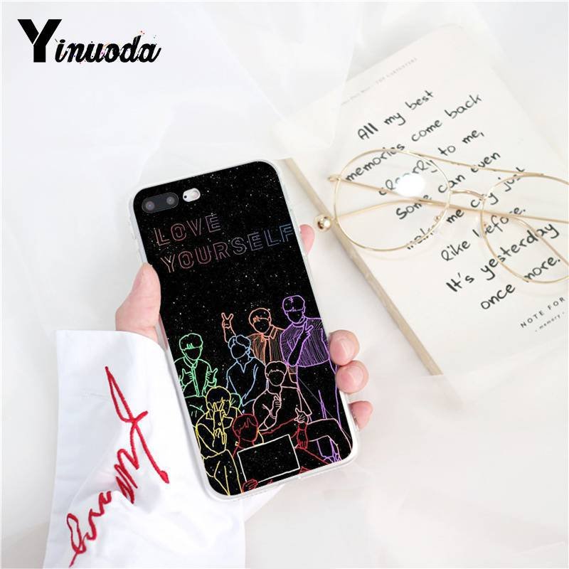 Yinuoda BTS Yourself fake love Bangtan shoes for boys IDOL TPU Phone Case  for iPhone 8 7 6 6S Plus X XS MAX 5 5S SE XR 10 Cases