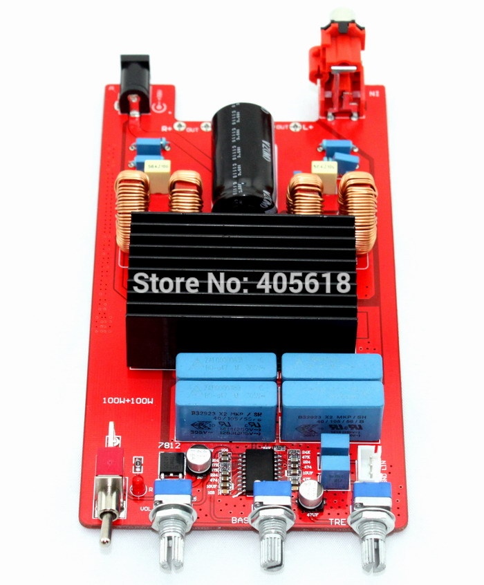 Hot sale TDA7498 + LM1036 Class D Audio Amplifier Board 100W + 100W 4 x 100w 4ohm tk2050 class d audio amplifier board black 10 30v