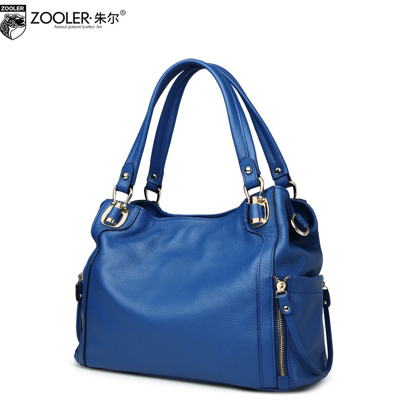 ZOOLER 2017 NEW top handle women bag genuine leather handbags elegant solid superior cowhide bag bolsa feminina luxury#2615 new product sales zooler brand zipper cowhide bag top handle shoulder bag simply solid genuine leather bag women bag bolsas c108