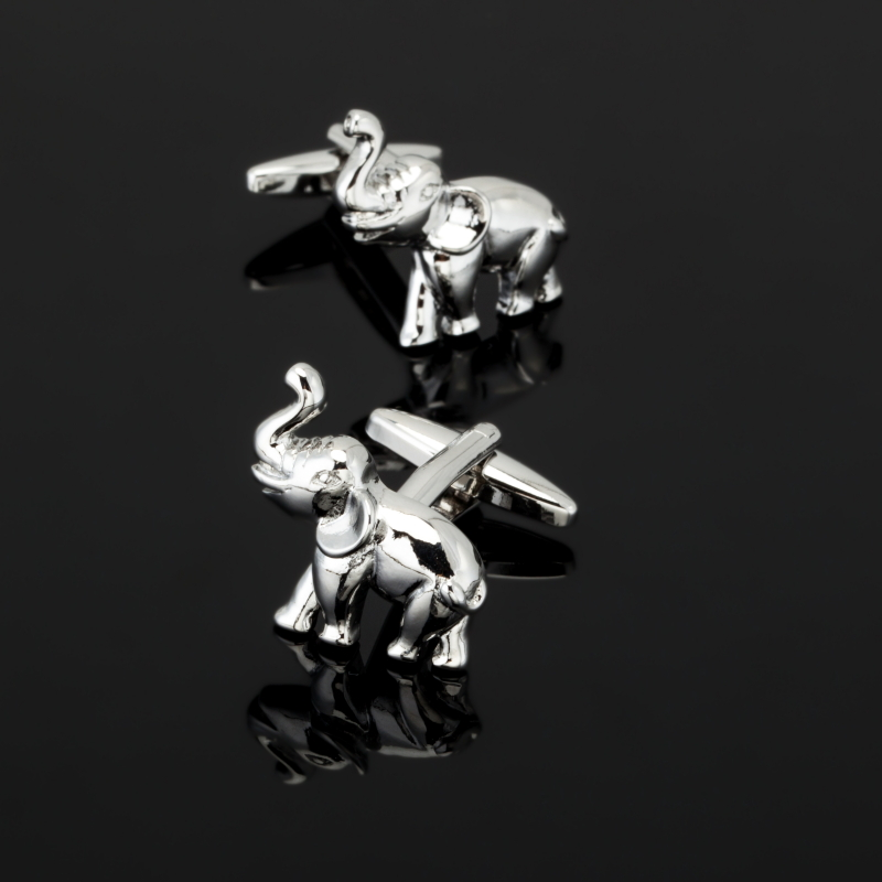XK388 Elephant Cufflinks Silver Copper Animal Design Best Gift For Men Cuff Links Wholesale&retail