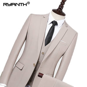 Ryanth 3 Pieces Wedding Slim Fit Men's Suit with Pants