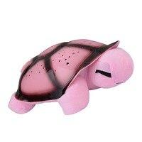 Crepúsculo musical tortuga Nightlight estrella del cielo de la novedad lámpara niños juguete música canción Iluminación luz del sueño del bebé
