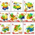 Построить Животных и Автомобиль Комплект Включая Take-Apart и Собраны Модели игрушки и Инструменты, 10 стилей Собраны игрушки для детей
