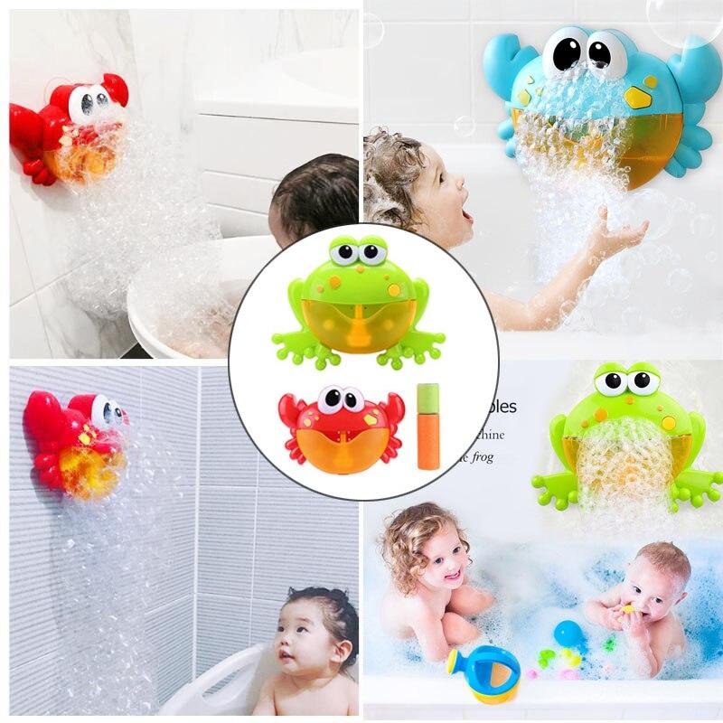 17 Styles New Crab Bubble Machine Bathroom Big Crab Automatic Bubble Maker Bath Toy Kid Baby Toy Newborn Gift Water Bath Toys