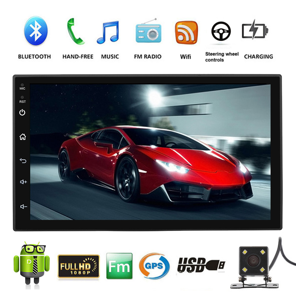 Universal 2DIN Android 8.1 Car Radio No DVD MP5 Player 7 Touch Screen Multimedia Player GPS Navigation Wifi Bluetooth USB AudioUniversal 2DIN Android 8.1 Car Radio No DVD MP5 Player 7 Touch Screen Multimedia Player GPS Navigation Wifi Bluetooth USB Audio