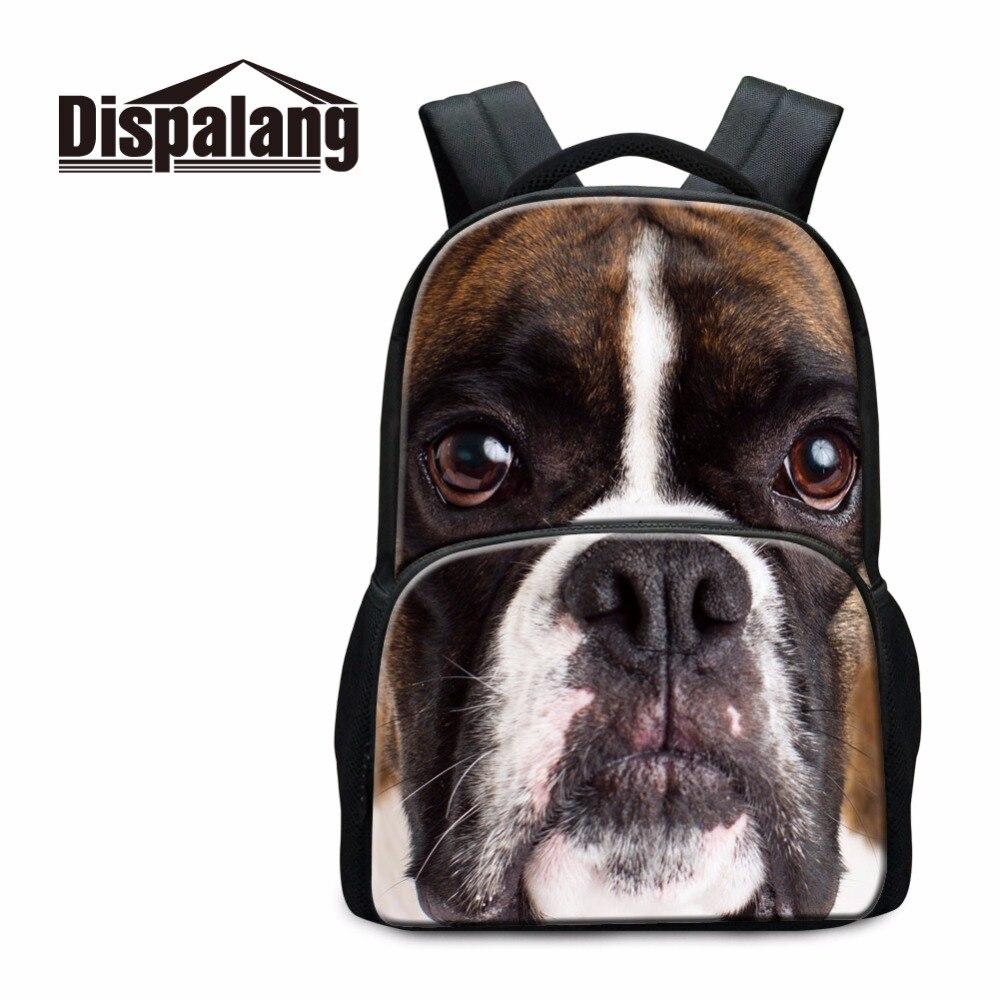 Милая собака шаблон школы Рюкзаки для Колледж студентов высокого класса, большой ранцы Рюкзак для детей ноутбука Back Pack