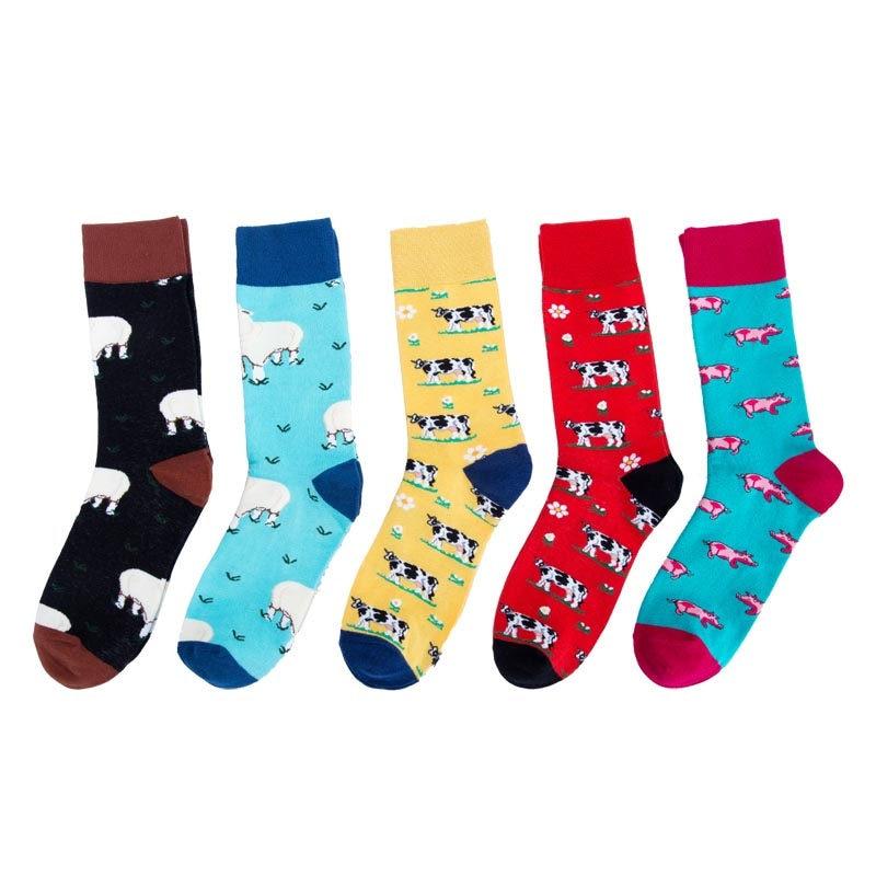 Womens Marine Casual Soft Cotton Knee Socks,Fashion Novelty Tube Crew Socks