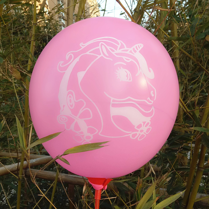 12inch Latex Balloons Air Balloons Inflatable Balls Cartoon Unicorn Happy Birthday Party Supplies Wedding Decoration Toys Gil