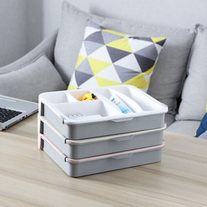 Image 1 - Room Dressing Table Desktop Sundries Storage Box Double Layer Storage Boxes Bag Organizer Home Accessories 2019 New Dropshipping