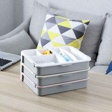 Zimmer Dressing Tabelle Desktop Kleinigkeiten Lagerung Box Doppel Schicht Lagerung Boxen Tasche Organizer Hause Zubehör 2019 Neue Dropshipping