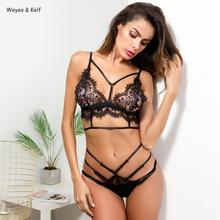 Black Bandage Women Rompers Complex Craft Multi-rope Cross-lace Stitching Sexy Bodysuit Women Body Femme