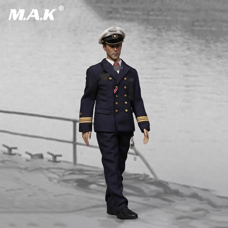 1/6 Scale WWII Soldier Figure U-Boat Captian Man Action Figure for Collections 1 6 scale full set soldier the lord of the rings elven prince legolas action figure toys model for collections